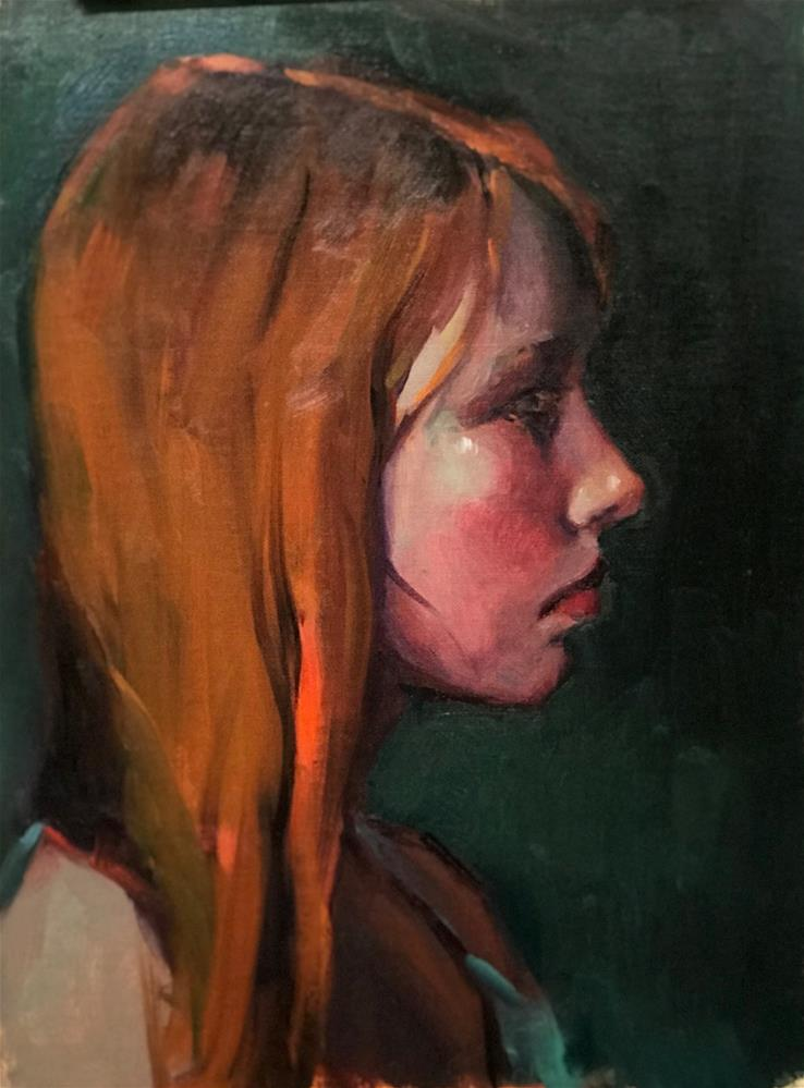 """The Gaze II"" original fine art by Laurie Johnson Lepkowska"