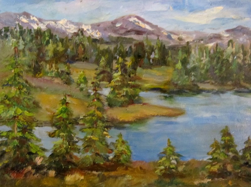 """Vista Range"" original fine art by Delilah Smith"