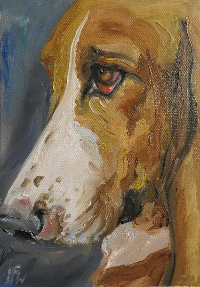 """""""Basset Stare"""" original fine art by H.F. Wallen"""