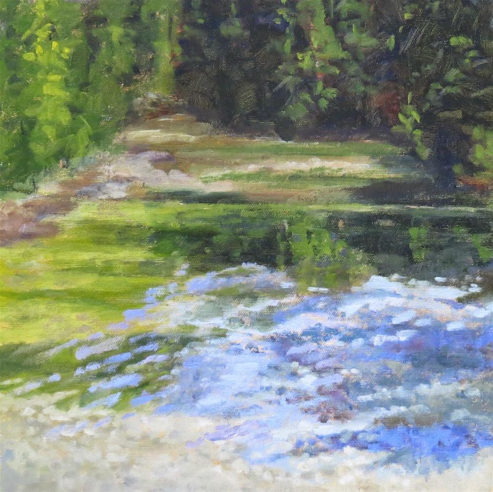 """Whispering River"" original fine art by Pam Holnback"