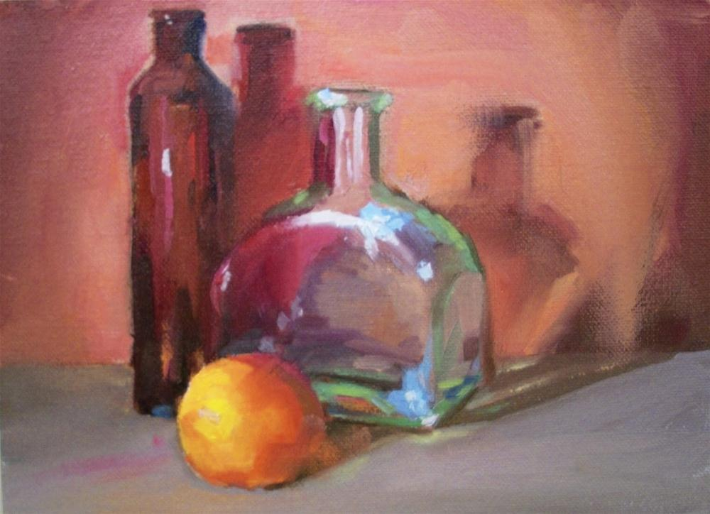 """""""RED ORANGE AND CLEAR"""" original fine art by Doug Carter"""
