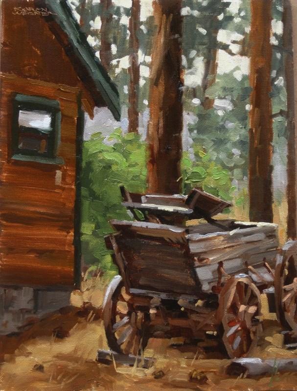 """""""Wagon"""" original fine art by Karen Werner"""