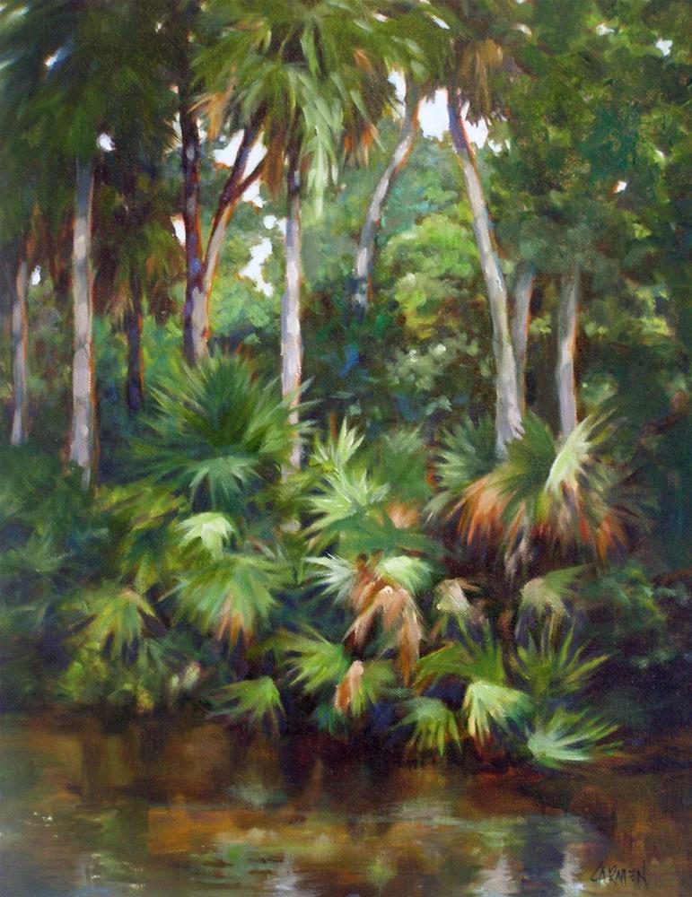 """Verdant, 18x24 Oil on Canvas"" original fine art by Carmen Beecher"