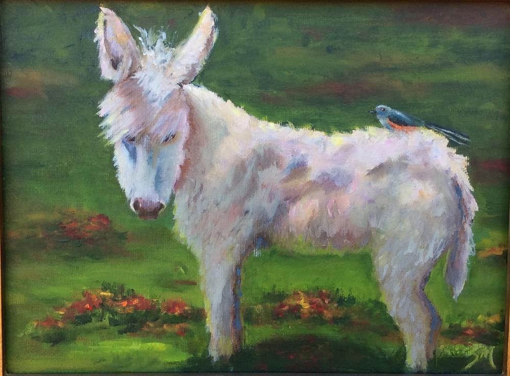 """piggy back"" original fine art by Susie Monzingo"