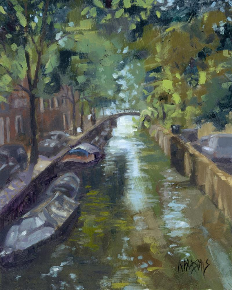 """""""Canals of Coexistence"""" original fine art by Nancy Parsons"""