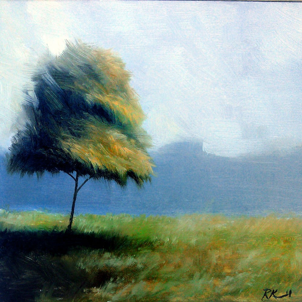 """""""Another Tree in C.M. Park"""" original fine art by Bob Kimball"""