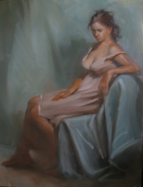 """Day four, Zhaoming Wu Workshop 11x14 oil on canvas"" original fine art by Claudia Hammer"
