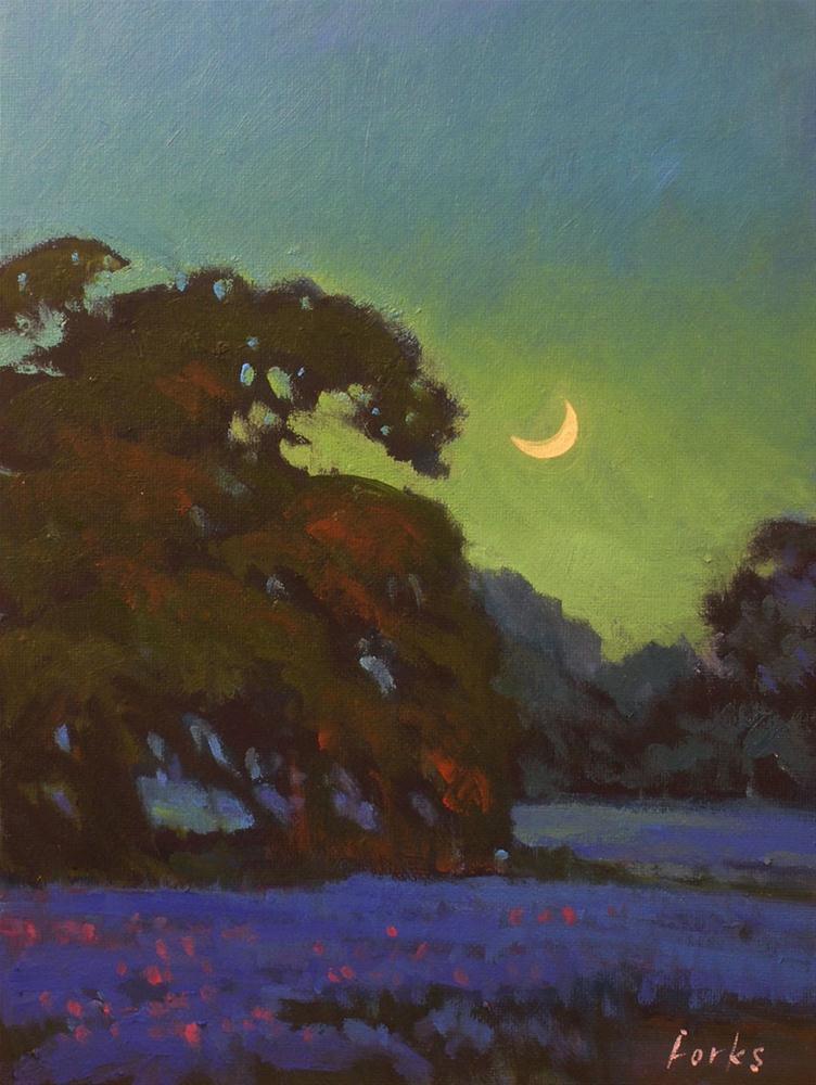 """""""Moonglow"""" original fine art by David Forks"""