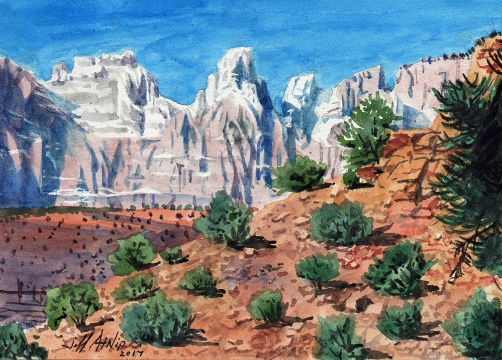 """Zion Park Study 2"" original fine art by Jeff Atnip"