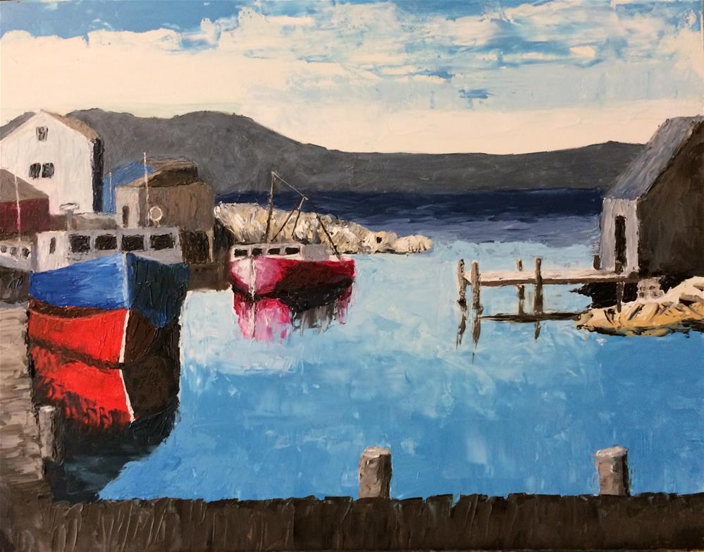 """""""Peggy's Cove"""" original fine art by Beau Crump"""