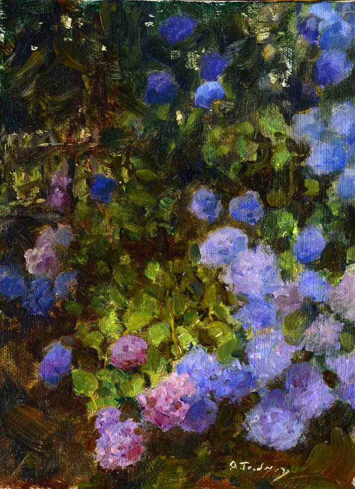 """Hydrangea"" original fine art by alicia tredway"
