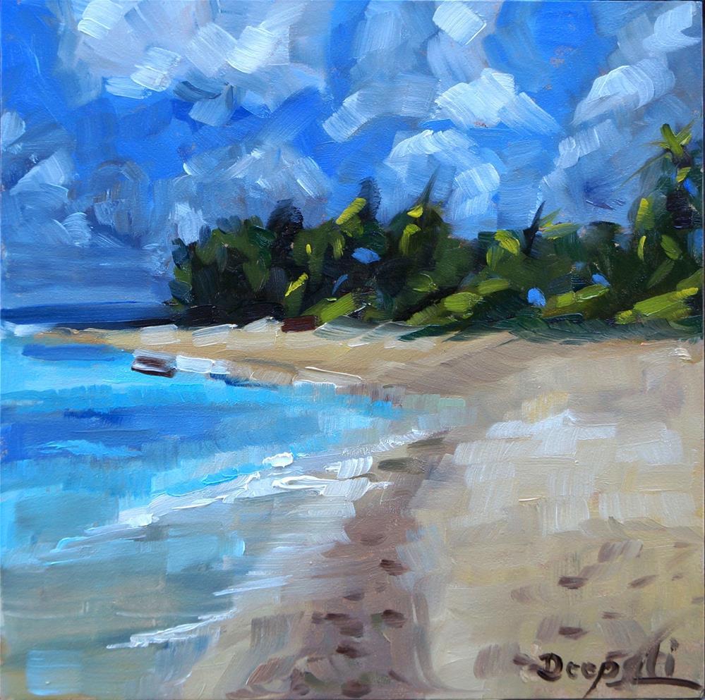 """The beach"" original fine art by Dipali Rabadiya"