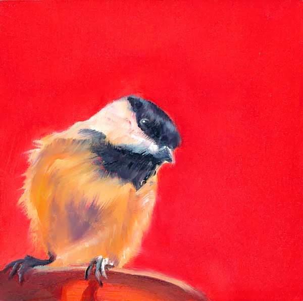 """Red Chick"" original fine art by Brenda Ferguson"