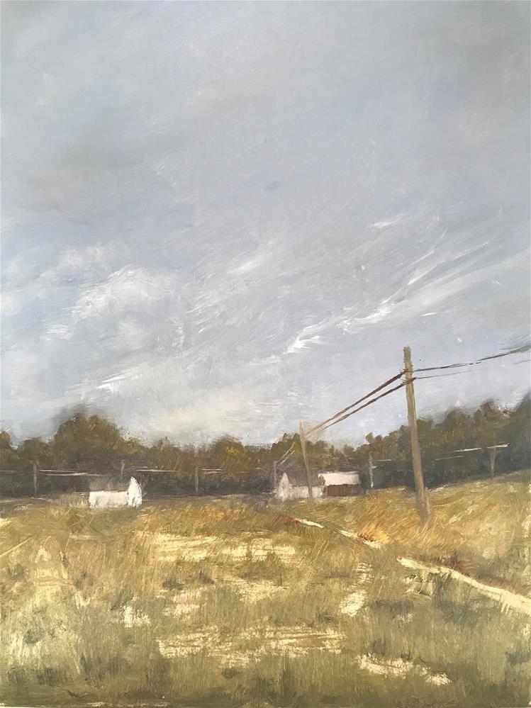 """patchy fields"" original fine art by Betty Argiros"