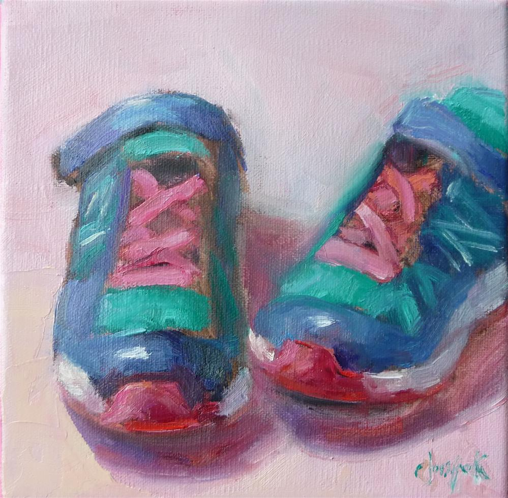 """Suzanne's shoes"" original fine art by Carol Josefiak"