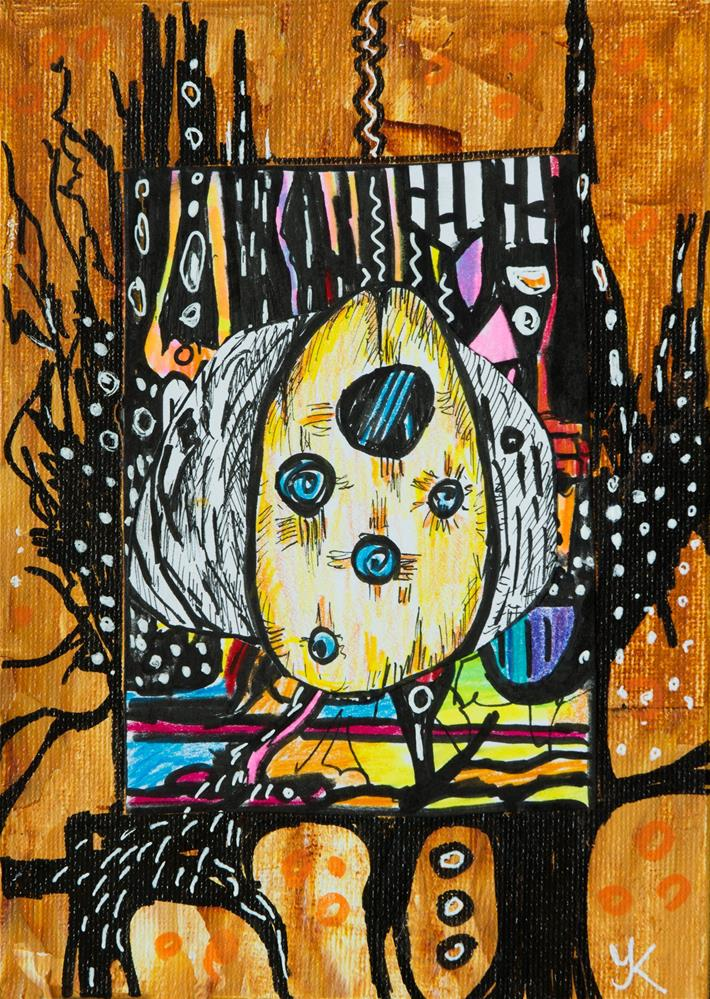 """Abstract Drawing 2"" original fine art by Yulia Kazansky"