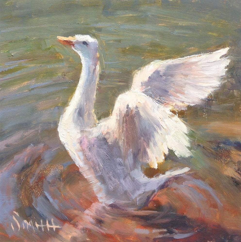 """Spread Your Wings"" original fine art by Barbie Smith"