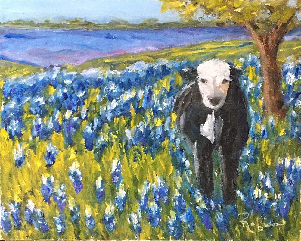 """""""Bluebonnet Heaven"""" original fine art by Renee Robison"""