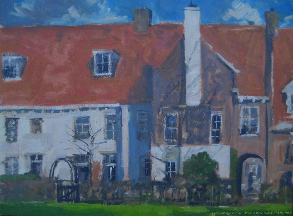 """Agnietenhofje. Zutphen, The Netherlands."" original fine art by René PleinAir"