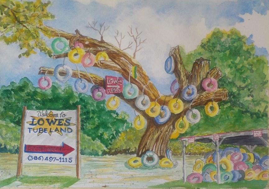 """""""Tube Tree # 211"""" original fine art by Jim Whiteside"""