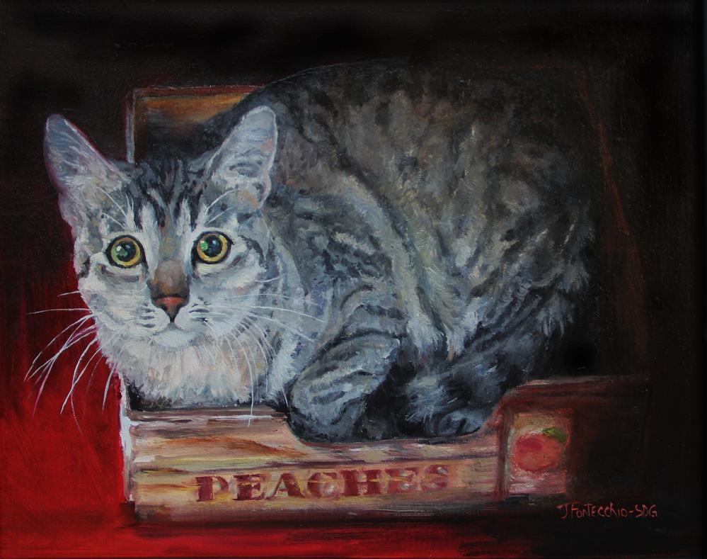 """Peaches"" original fine art by Jan Fontecchio"
