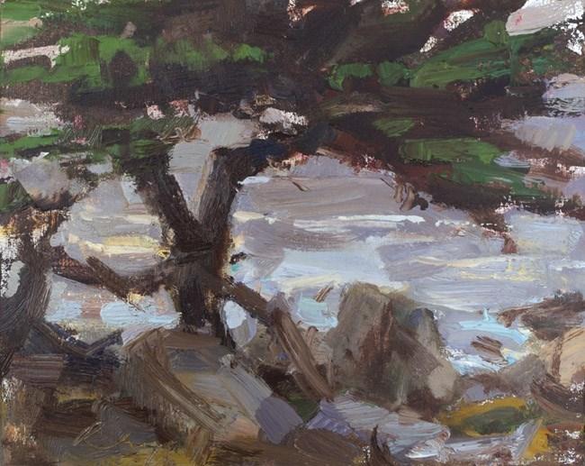 """Seascape California 03"" original fine art by Roos Schuring"
