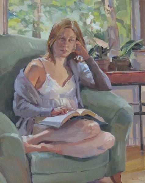 """""""Gentle Reader"""" original fine art by Sarah Sedwick"""
