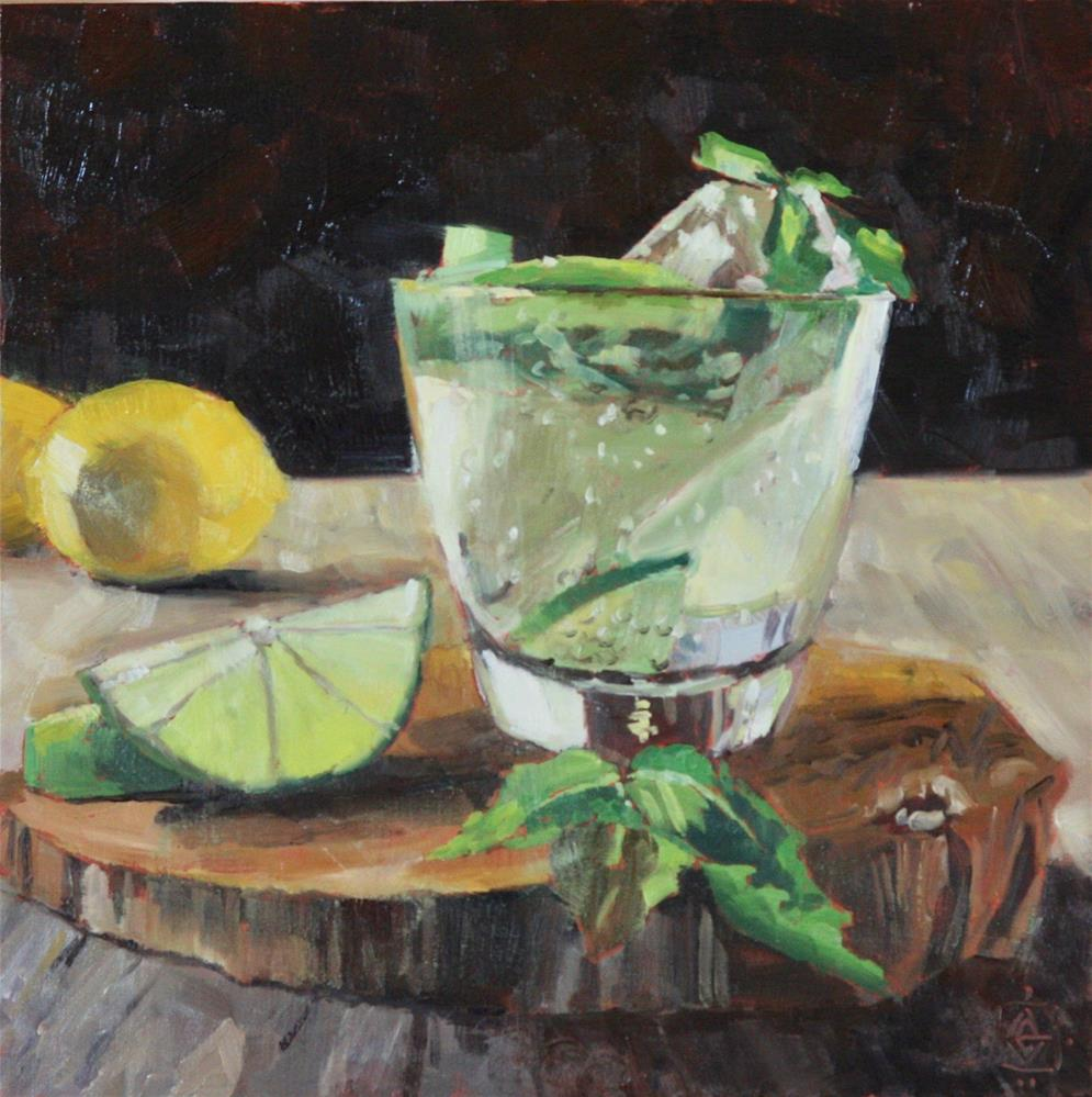"""Citrus Cocktail"" original fine art by Carol Granger"