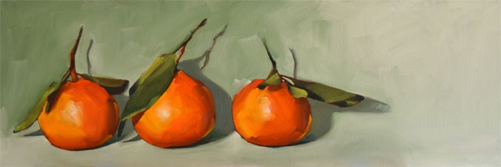 """""""Mandarin Lineup"""" original fine art by Cheryl Wilson"""