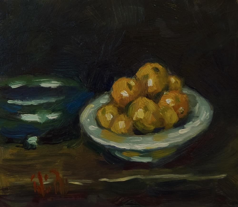 """Tangerines"" original fine art by Andre Pallat"