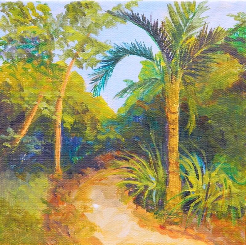 """I walk in Solitude with Adventure to be found"" original fine art by Gloria Urban"
