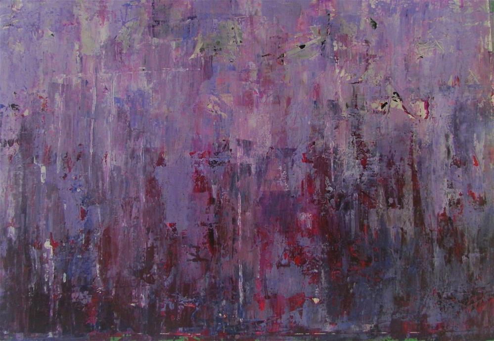 """27 x 16 inch acrylic on TerraSkin"" original fine art by Linda Yurgensen"
