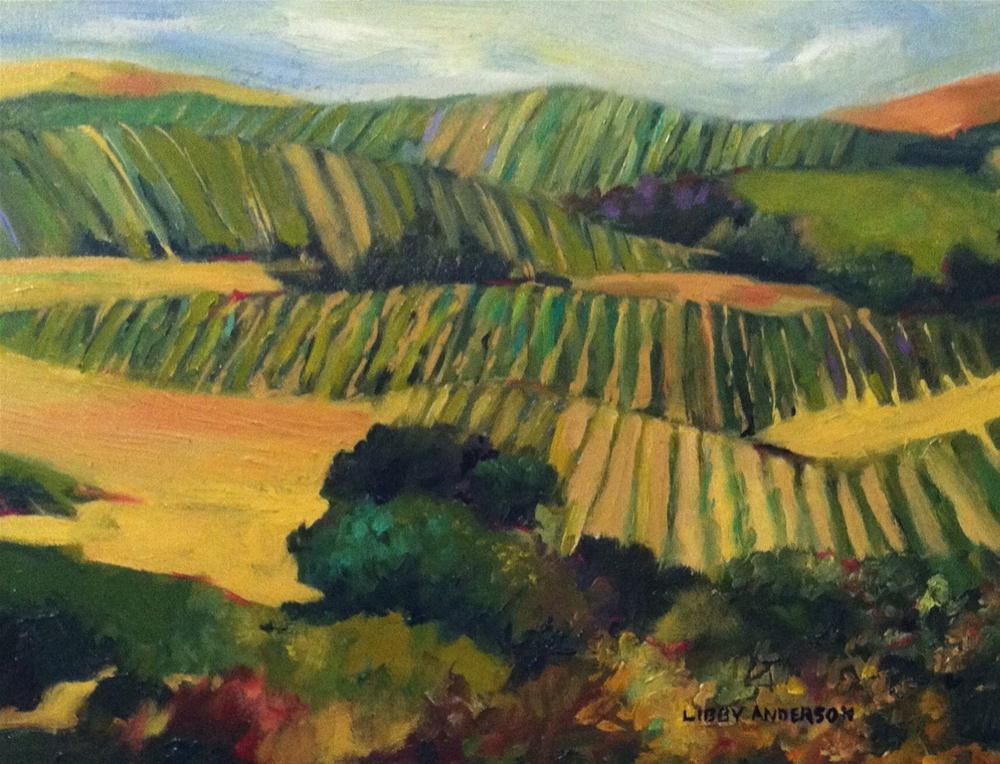 """""""Napa Quilt"""" original fine art by Libby Anderson"""