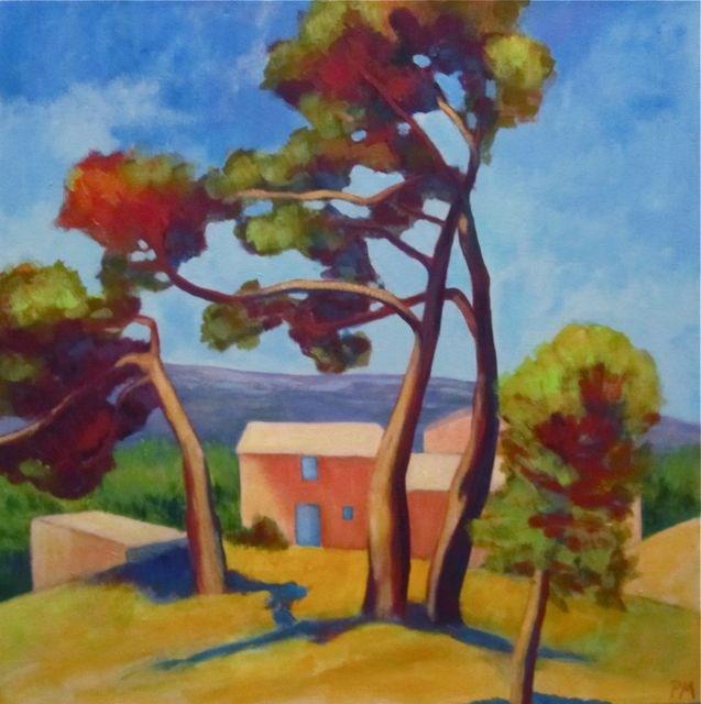 """Bonnieux Pines"" original fine art by Patricia MacDonald"