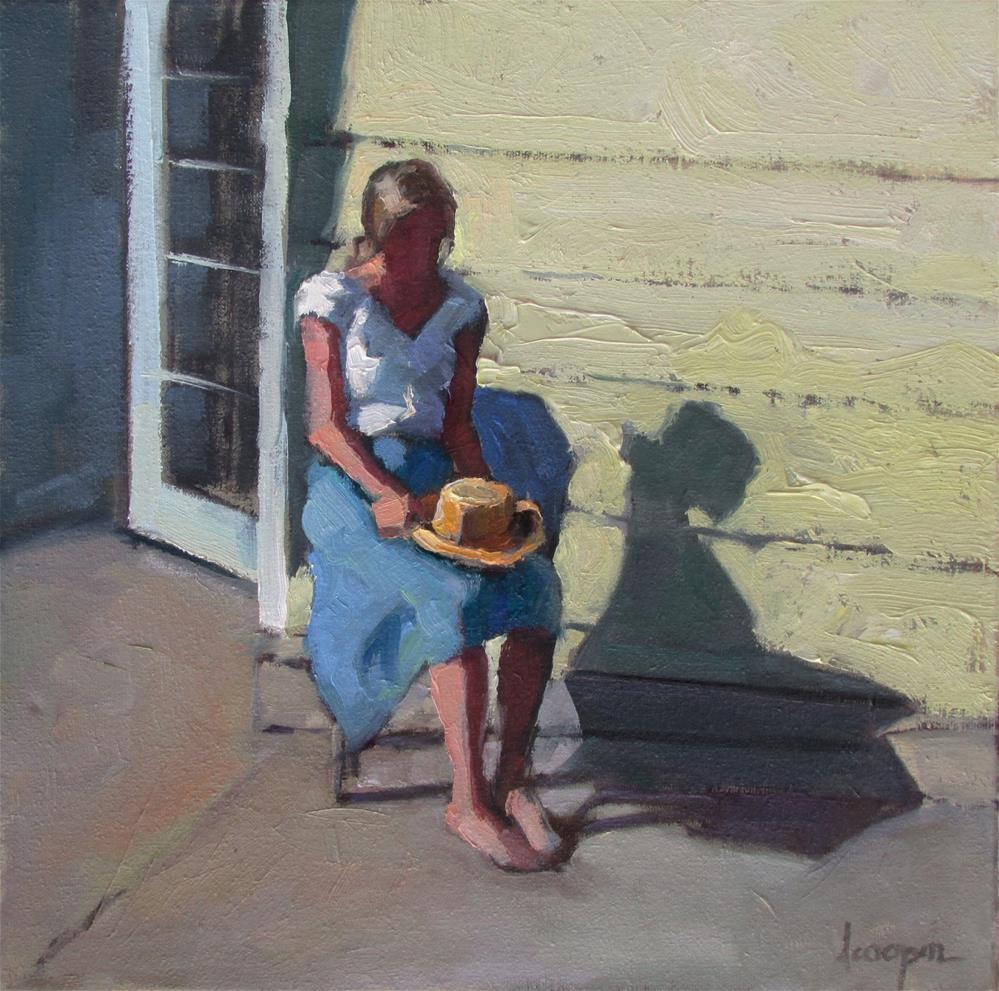 """Saige's Seat"" original fine art by Dana Cooper"