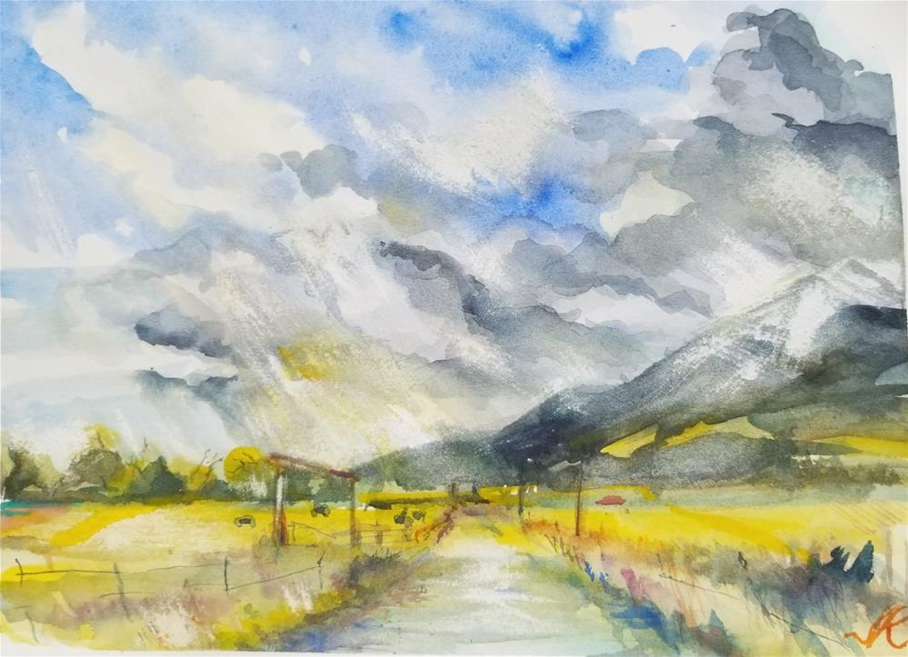 """County Road 140, Westcliffe , CO"" original fine art by Jean Krueger"