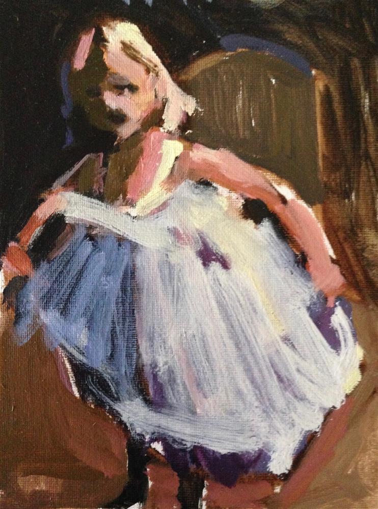"""The Curtsey"" original fine art by Pamela Hoffmeister"