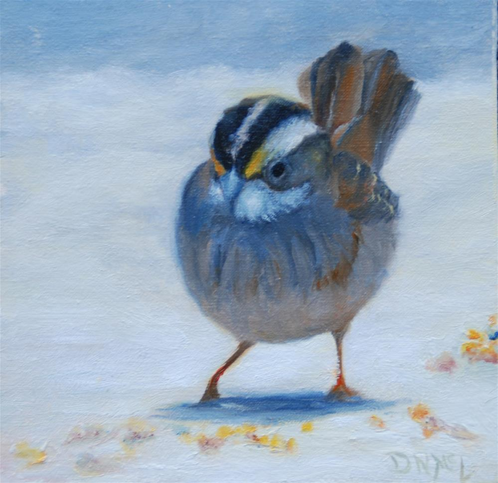 """Breakfast in the Snow"" original fine art by Dorothy McLennan"