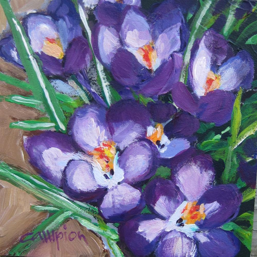 """First Blooms"" original fine art by Diane Campion"