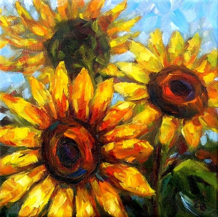 """Sunflowers"" original fine art by Irina Beskina"