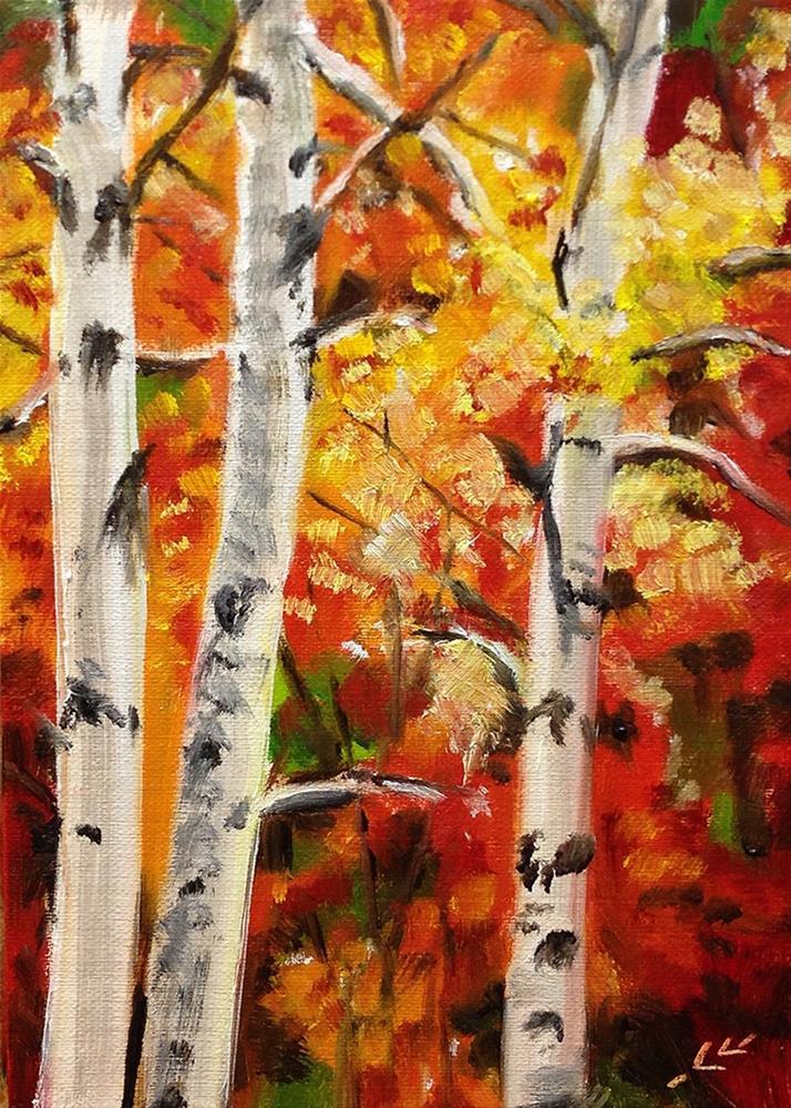 """Fall Colors"" original fine art by Linda Lowery"