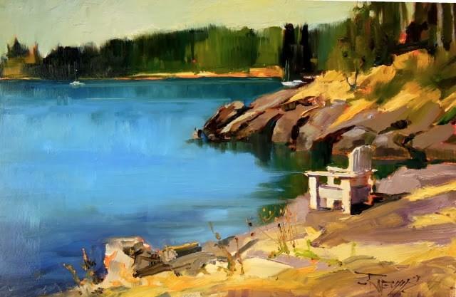 """Doe Bay Lookout  plein air landscape painting by Robin Weiss"" original fine art by Robin Weiss"