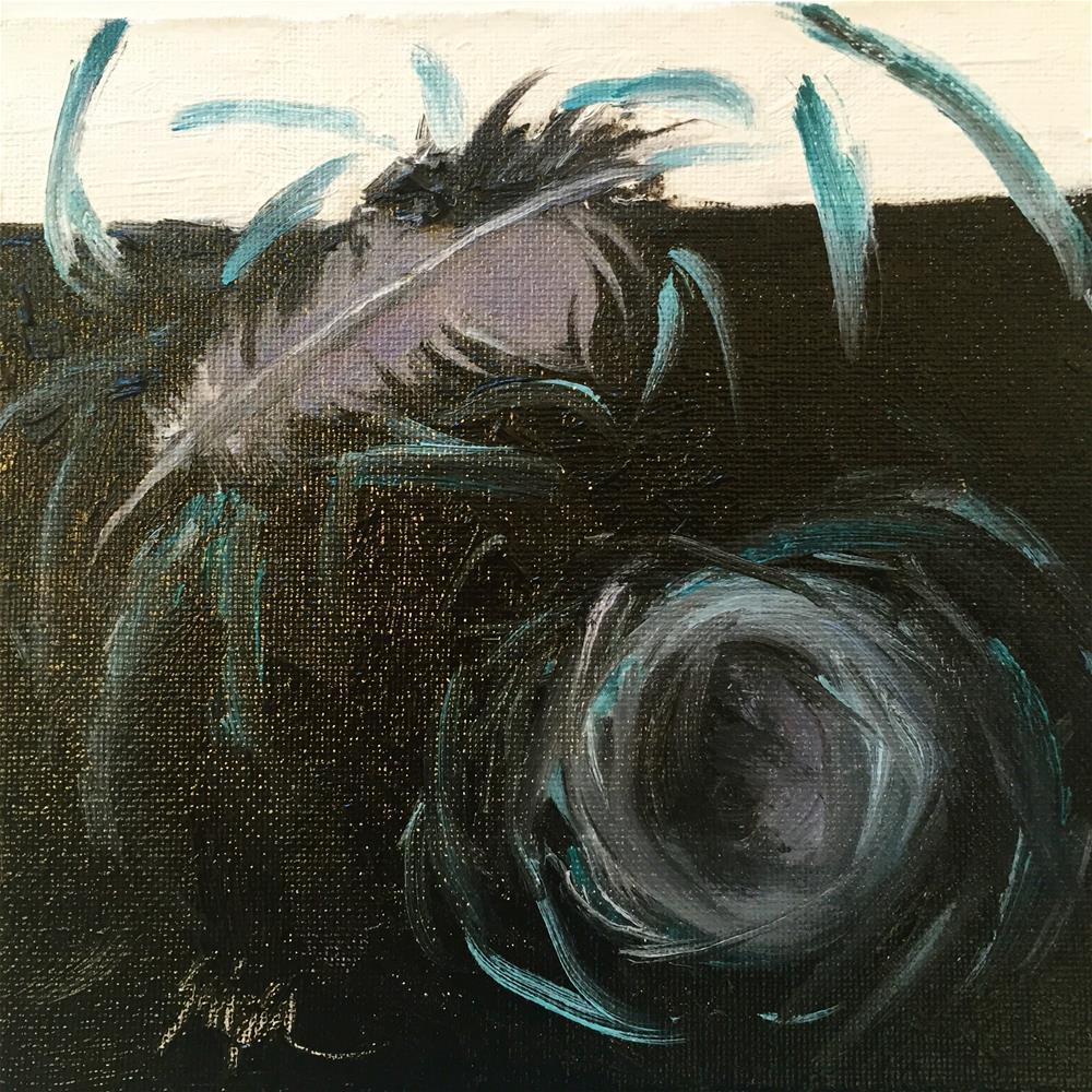 """""""Bird Nest, Day 6"""" original fine art by Connie Snipes"""