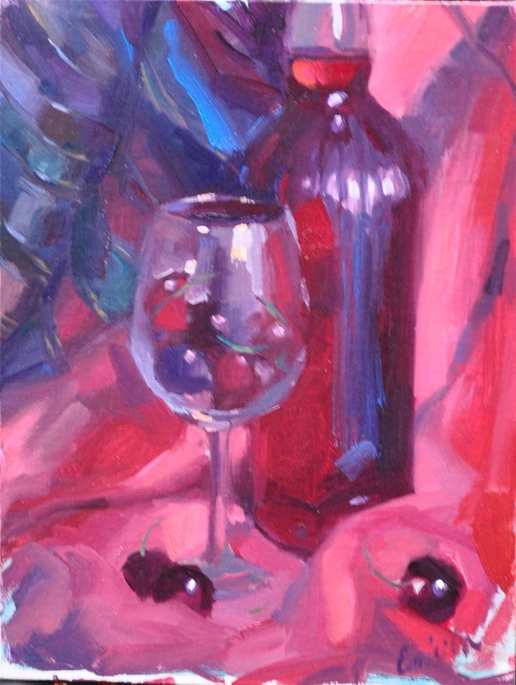 """Porto Cherioil on linen 9x12"" original fine art by Emiliya Lane"