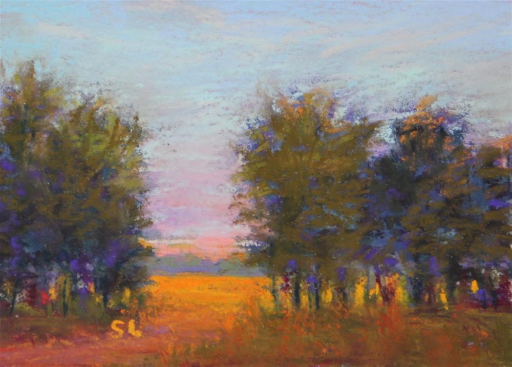 """Golden Meadows"" original fine art by Sharon Lewis"