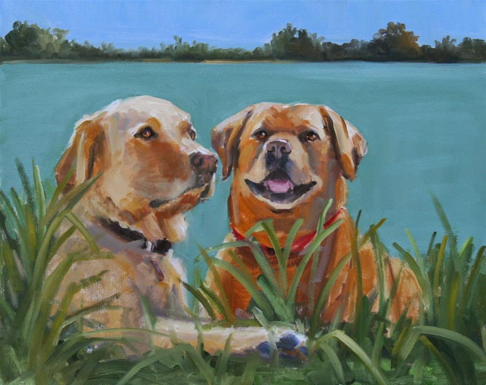 """a cool place"" original fine art by Carol Carmichael"