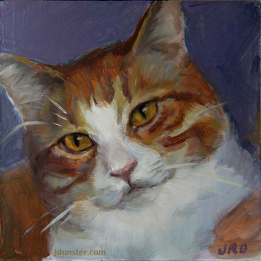 """""""Orange Boy"""" original fine art by J. Dunster"""
