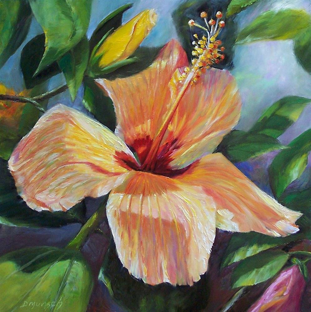 """Hibiscus Sunrise"" original fine art by Donna Munsch"