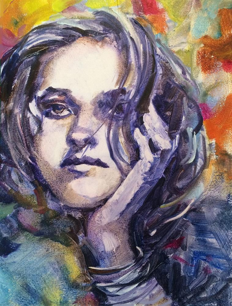 """Faces:  Dreamer"" original fine art by Nicoletta Baumeister"