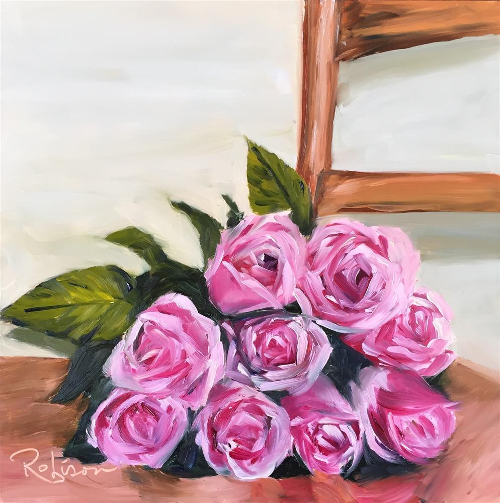 """Rose study: 2 of 10"" original fine art by Renee Robison"